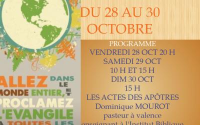 Dominique Mourot Etude du Livre des Actes des Apôtres