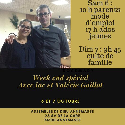 Culte de famille avec Luc et Valérie Goillot
