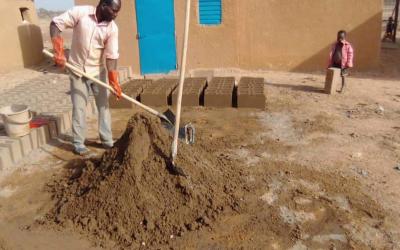 Atelier de teinture au Niger