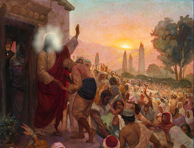 Jésus guérit ceux qui viennent à sa porte